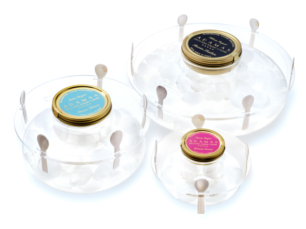 Adamas Caviar - portacaviale in cristallo